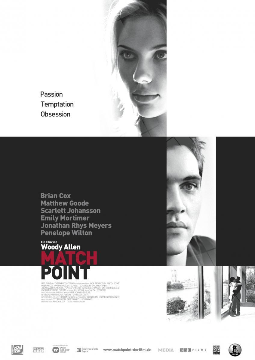 Match Point Woody Allen-cartel